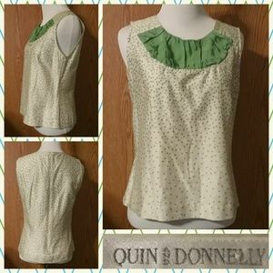 Quin and Donnelly sleeveless blouse